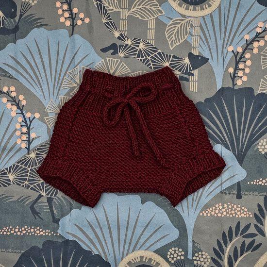Knit bloomers ISOBEL handknitted of virgin merino wool VAN BEREN