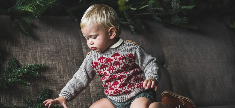baby knit sweater Mavis, mushroom sweater, meriono wool, hand made in Austria, VAN BEREN, vintage style inspired knits, high quality, eco-friendly clothing, conscious, baby present, baby shower, baby belly party, hand knitted, fair fashion, sustainable kids wear, babyknits, vintagestyle,