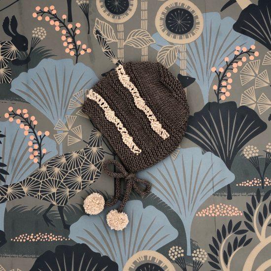 Vintage style inspired Van Beren knit, knit bonnetELLIE, handmade in Austria, merino wool, eco consciouis clothes, baby present, baby shower, baby belly party, hand knitted, fairfashion, heirloom, VAN BEREN
