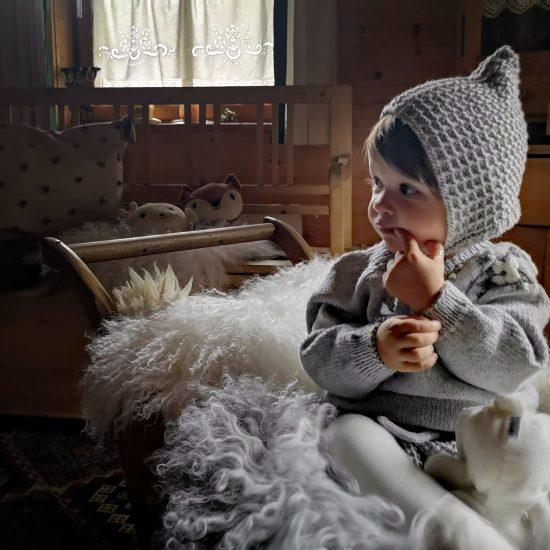 Vintage style inspired Van Beren knit sweater FLORENTINE, handmade in Austria, merino wool, eco consciouis clothes, baby present, baby shower, baby belly party, hand knitted, fairfashion, heirloom, VAN BEREN