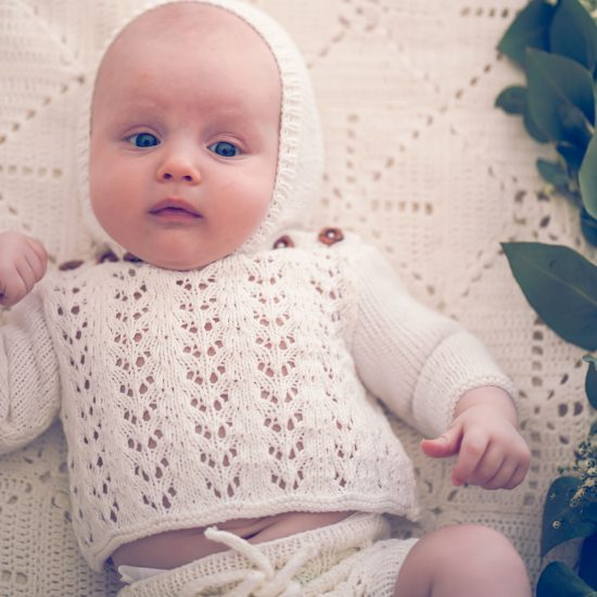 Christening, handmade in Austria, organic cotton yarn, eco consciouis clothes, baby present, baby shower, baby belly party, hand knitted, fairfashion, heirloom, VAN BEREN
