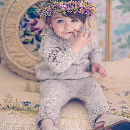 Flower girl, handmade in Austria, merino wool, eco consciouis clothes, baby present, baby shower, baby belly party, hand knitted, fairfashion, heirloom, VAN BEREN
