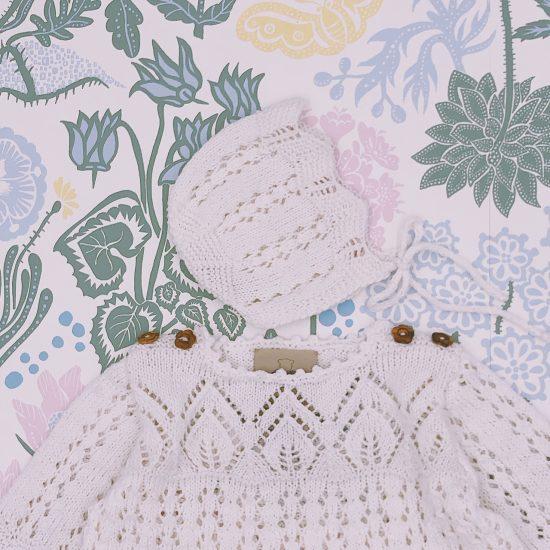 Christening, handmade in Austria, organic cotton yarn, eco consciouis clothes, baby present, baby shower, baby belly party, hand knitted, fairfashion, heirloom, VAN BEREN
