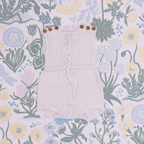 Christening, Taufe, Romper ALLIE handmade of organic cotton yarn VAN BEREN