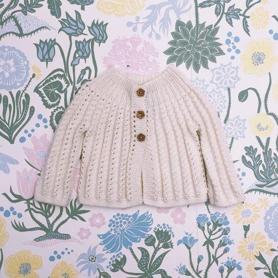 Knit cardigan AUGUSTA handknitted of virgin merino wool VAN BEREN