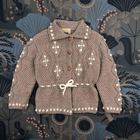 Knit cardigan BENNETT handknitted of virgin merino wool VAN BEREN