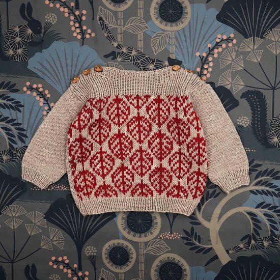 Knit sweater EDMUND handknitted of virgin merino wool VAN BEREN