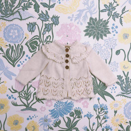 Knit cardigan GRETA handknitted of virgin merino wool VAN BEREN