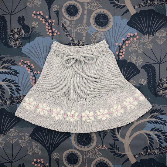 Knit skirt JANA handknitted of virgin merino wool VAN BEREN