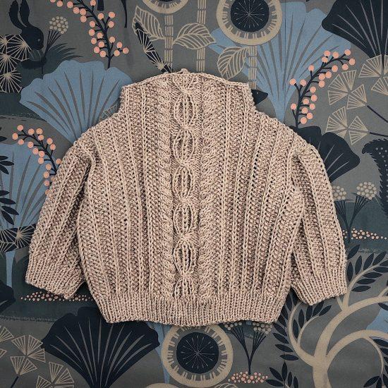Sweater AURELIUS handknitted of virgin m