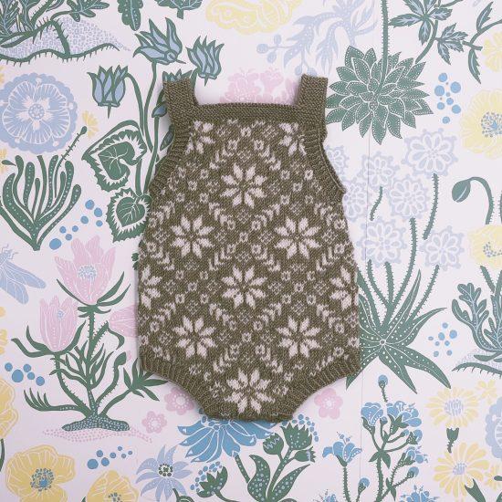 Knit romper EMMETT handknitted of virgin merino wool VAN BEREN