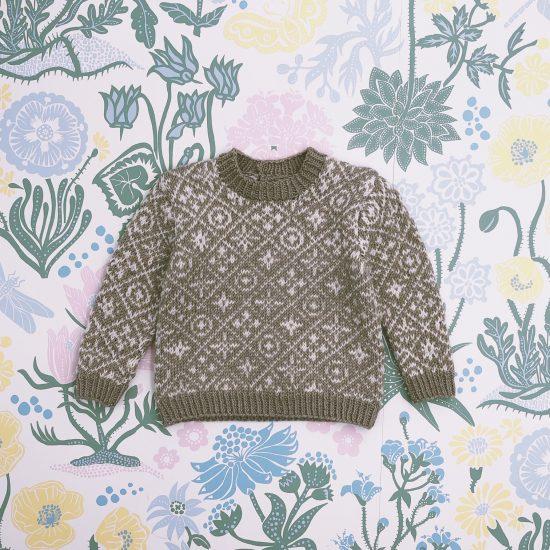 Knit sweater GIDEON handknitted of virgin merino wool VAN BEREN