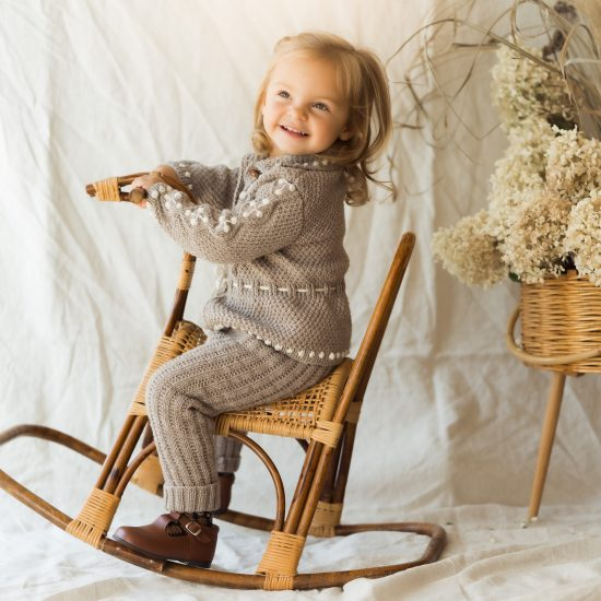 Knit leggings OPHELIA handknitted of virgin merino wool VAN BEREN