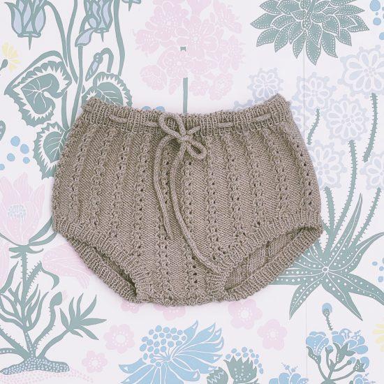 Knit bloomers AUGUSTA handknitted of virgin merino wool VAN BEREN