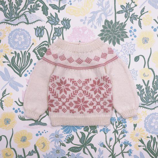 Knit sweater ALMA handknitted of virgin merino wool VAN BEREN