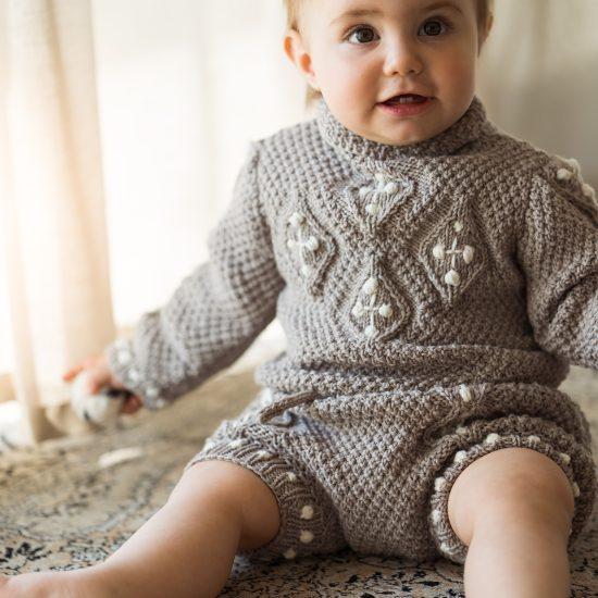 Knit sweater VERITY handknitted of virgin merino wool VAN BEREN