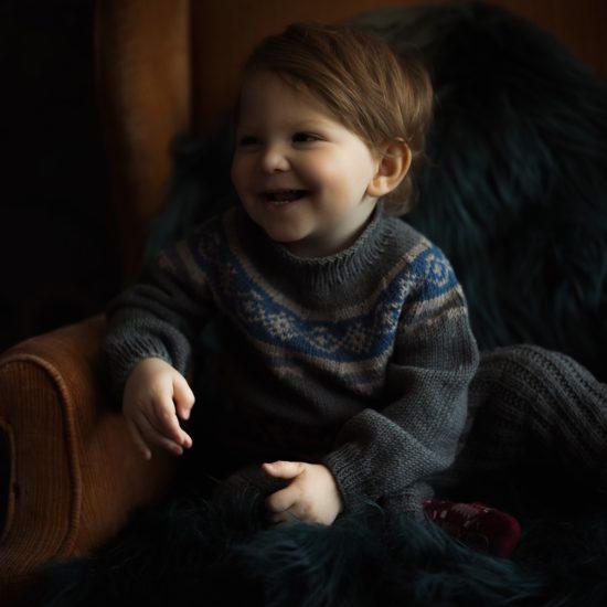 Knit sweater ATHENA handknitted of virgin merino wool VAN BEREN