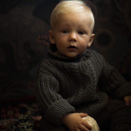 Knit sweater AURELIUS handknitted of virgin merino wool VAN BEREN