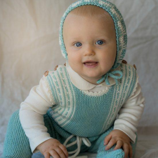Knit romper PHILIPPA handknitted of virgin merino wool VAN BEREN