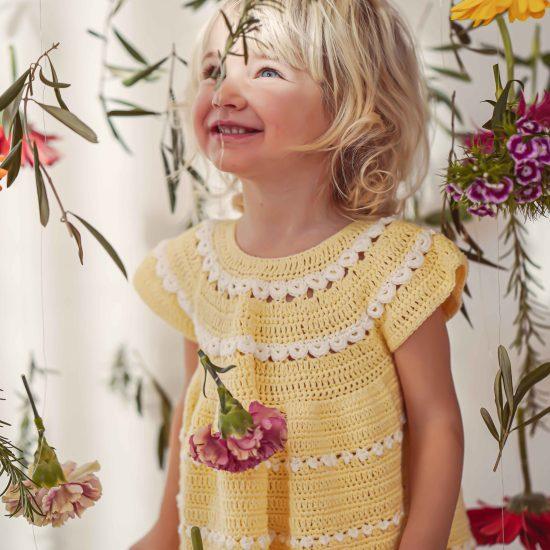 Christening, Taufe, Flower Girl, Wedding, Hochzeit, Blumenmädchen, handmade in Austria, organic cotton yarn, eco consciouis clothes, baby present, baby shower, baby belly party, hand knitted, fairfashion, heirloom, VAN BEREN