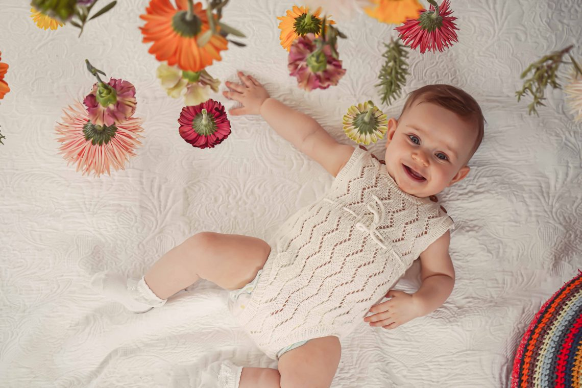 Christening, Taufe, Flower Girl, Wedding, Hochzeit, Blumenmädchen, handmade in Austria, organic cotton yarn, eco consciouis clothes, baby present, baby shower, baby belly party, hand knitted, fairfashion, heirloom, VAN BEREN