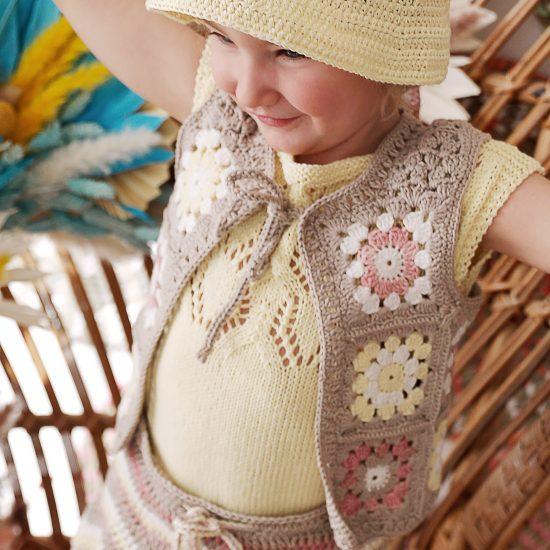 Knit top CASSANDRA handmade in Austria of organic cotton yarn VAN BEREN
