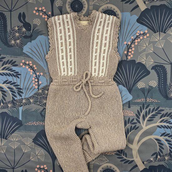 Knit romper ESTHER handknitted of virgin merino wool VAN BEREN