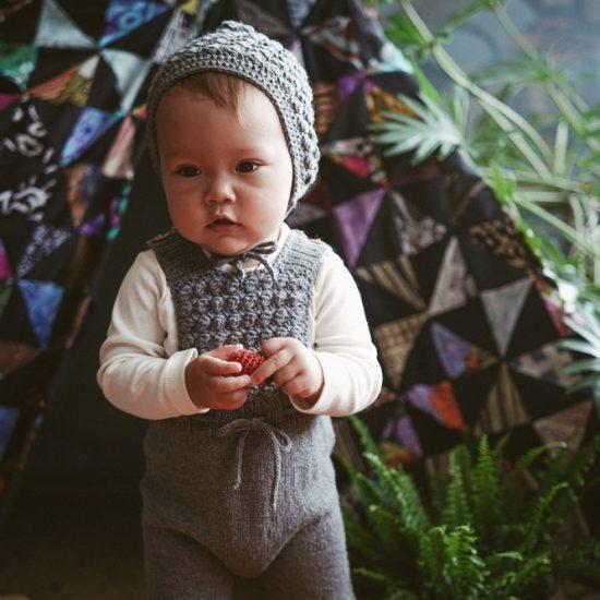 Knit romper ADELAIDE handknitted of virgin merino wool VAN BEREN