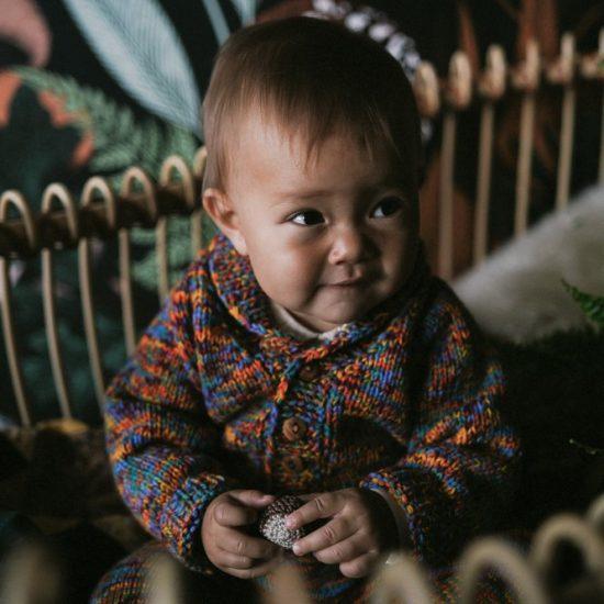Knit cardigan CALEB handknitted of virgin merino wool VAN BEREN