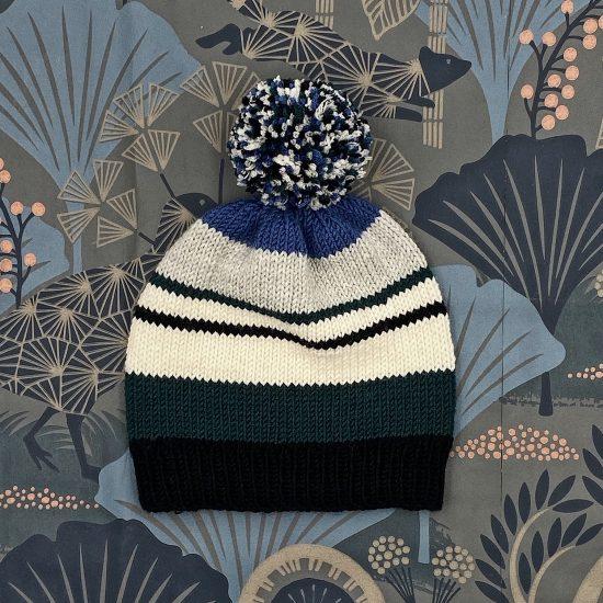 Knit bonnet TITUS handknitted of virgin merino wool VAN BEREN