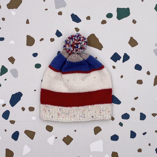 Knit bonnet TITUS handmade in Austria of virgin merino wool VAN BEREN