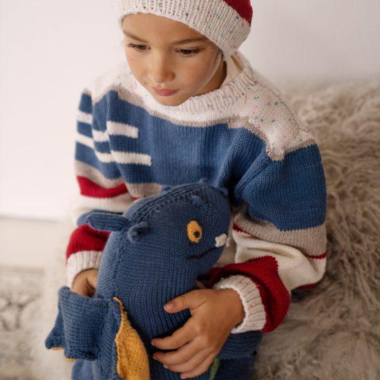 Knit sweater TITUS handmade in Austria of virgin merino wool VAN BEREN