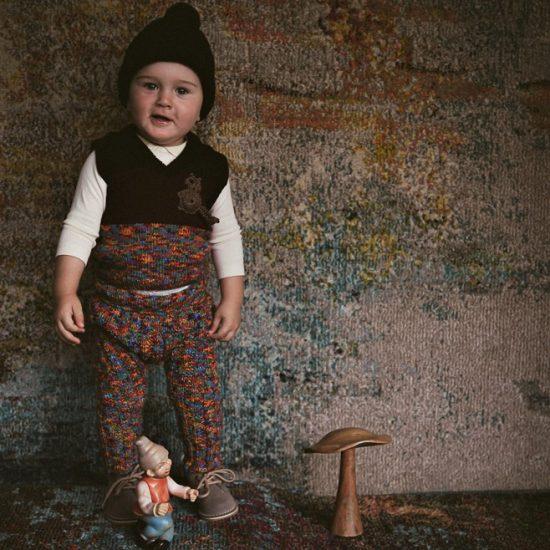 Knit vest EVERETT handknitted of virgin merino wool VAN BEREN