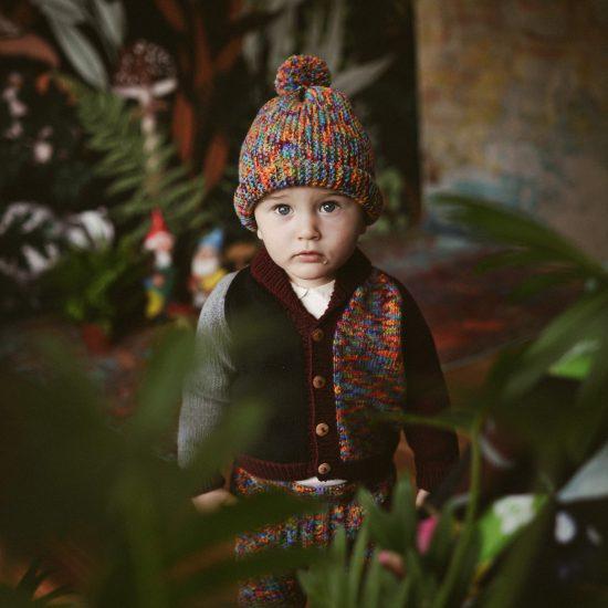 Knit cardigan JACOB handknitted of virgin merino wool VAN BEREN