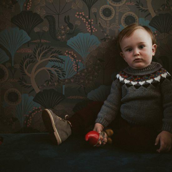 Knit sweater NOEMI handknitted of virgin merino wool VAN BEREN