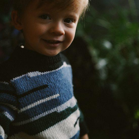Knit sweater TITUS handknitted of virgin merino wool VAN BEREN