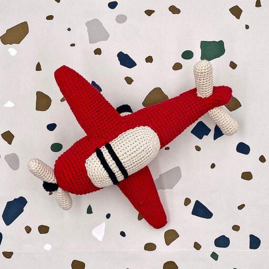 crochet toys, airplane, handmade, Häkelspielzeug, Anne-Claire petit, baby shower