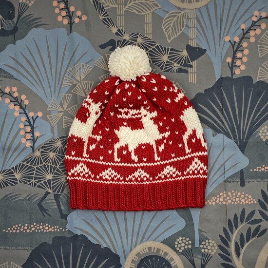 Bonnet RUDOLF handmade of merino wool in Austria