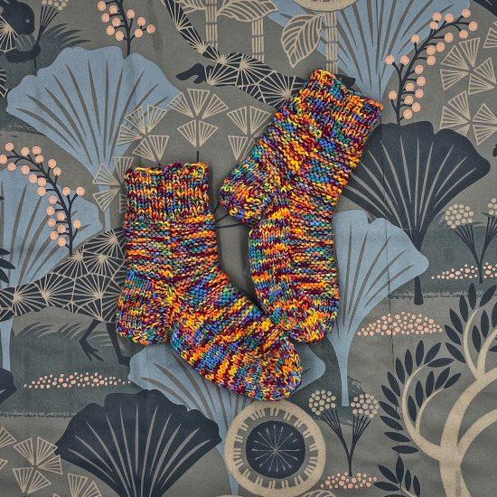 Knit socks OWEN handmade in Austria of merino wool VAN BEREN