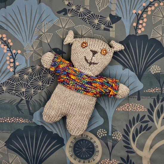 Van Beren knit bear RUDY handmade in Austria of virgin merino wool