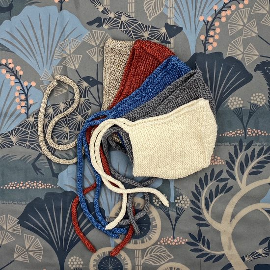 Baby bonnet RUFUS handknitted of merino wool VAN BEREN