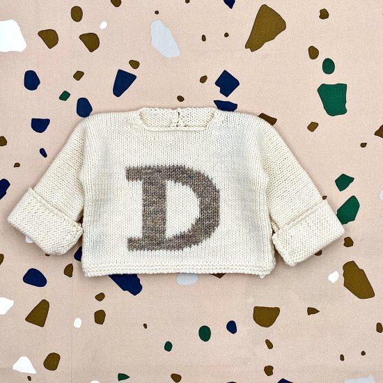 Baby sweater LETTER COLLECTION handknitted of merino wool VAN BEREN