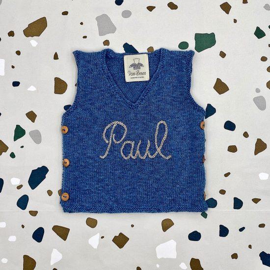 baby sweater MERLIN handknitted in Austria of merino cool wool VAN BEREN
