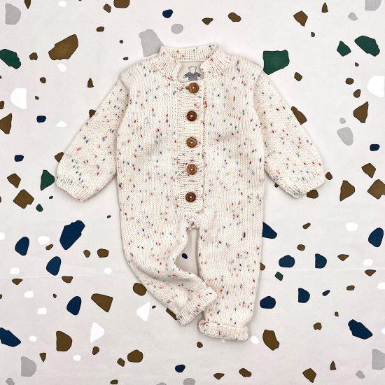 Baby romper suit OTTO handmade in austria of virgin merino wool VAN BEREN