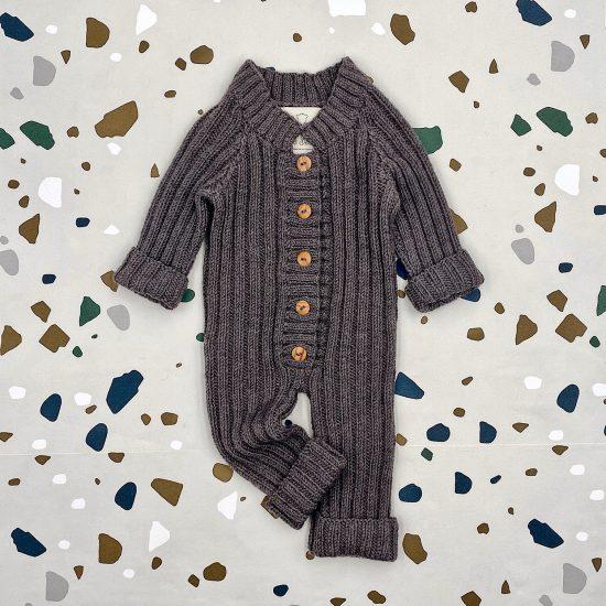 Baby romper suit QUINCY handmade in austria of virgin merino wool VAN BEREN