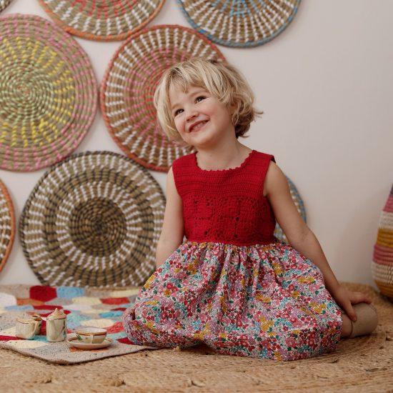 Knit dress HELENA handmade of organic cotton yarn in Austria VAN BEREN