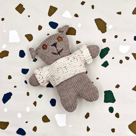 Van Beren knit bear RUDY handmade in Austria of virgin merino wool