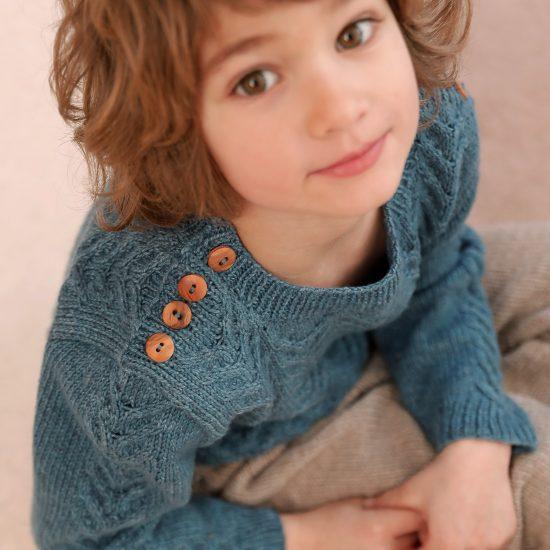 Sweater JAGO handknitted in Austria of virgin merino wool