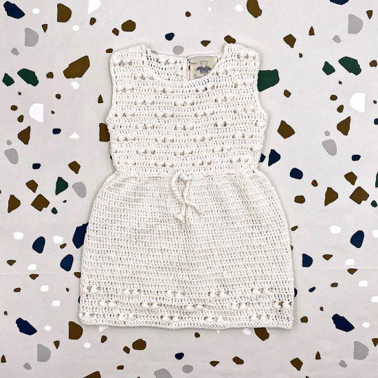 Crochet dress SIMMER handmade of organic cotton yarn VAN BEREN