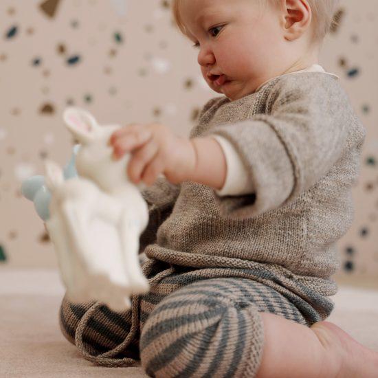 Baby leggings FREDERICK handknitted of virgin merino wool VAN BEREN